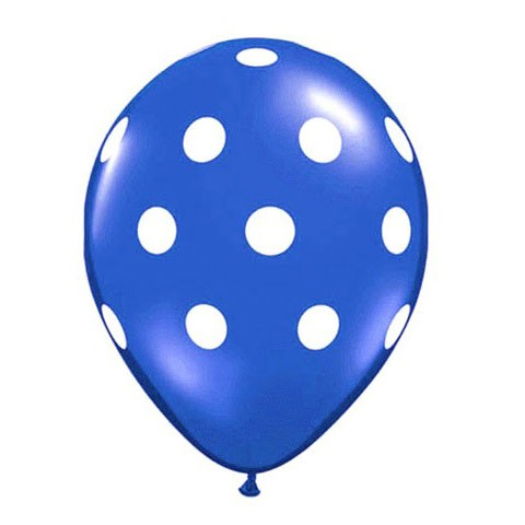 16in Polka Dot Balloon<br> Sapphire Blue<br> LIMIT 5 PER ORDER(Click for Details)