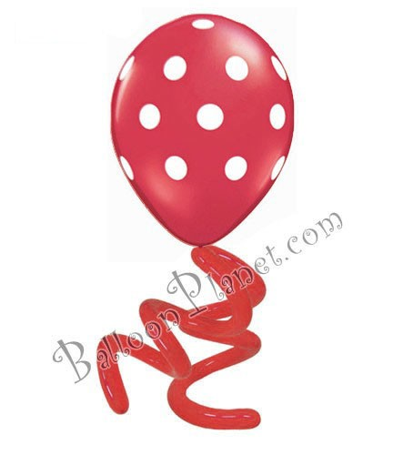 16in Polka Dot Twisty<br> Ruby Red<br> LIMIT 5 PER ORDER(Click for Details)
