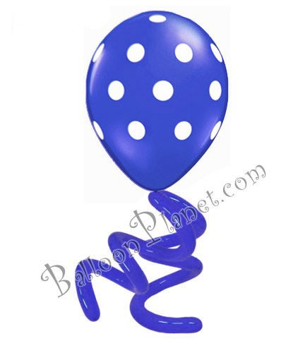 16in Polka Dot Twisty<br> Sapphire Blue<br> LIMIT 5 PER ORDER(Click for Details)