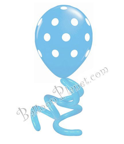 16in Polka Dot Twisty Pastel Blue LIMIT 5 PER ORDER(Click for Details)