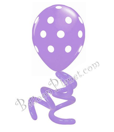 16in Polka Dot Twisty Spring Lilac LIMIT 5 PER ORDER(Click for Details)