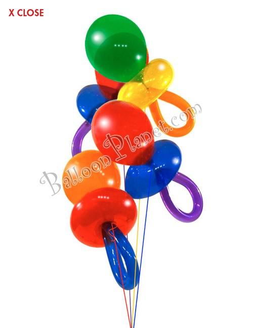 Pacifier Latex Balloon<br> Jewel Tone Colors(Click for Details)