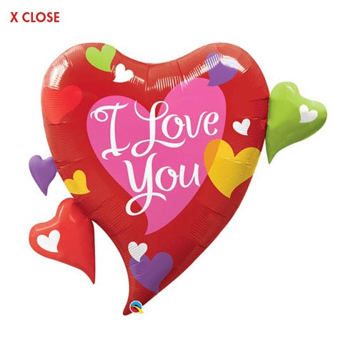 I Love You Hearts<br> Cluster Balloon