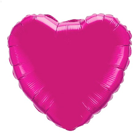 Heart Balloon Magenta