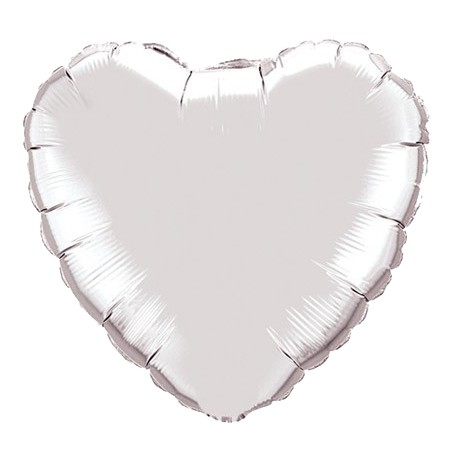 Heart Balloon Silver