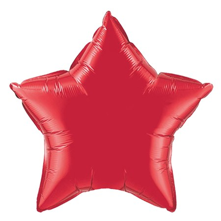 Star Balloon 20in Ruby Red