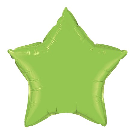 Star Balloon 20in<br> Lime Green