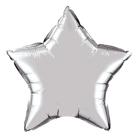 Star Balloon 20in<br> Silver