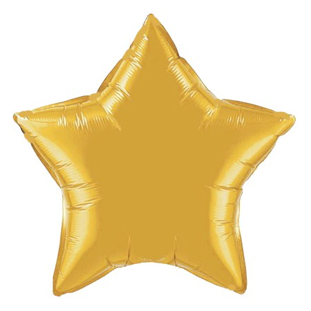 Star Balloon 20in<br> Gold