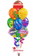 Twisty Airspray Anniversary Balloon Bouquet (9 Balloons) delivered in Boynton Beach