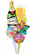 A Helium Toast Anniversary Balloon Bouquet (6 Balloons) delivered in Bloomington