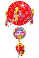 Soaring High Hot Air Balloon Replica Anniversary Balloons (2 Balloons) delivered in Plano