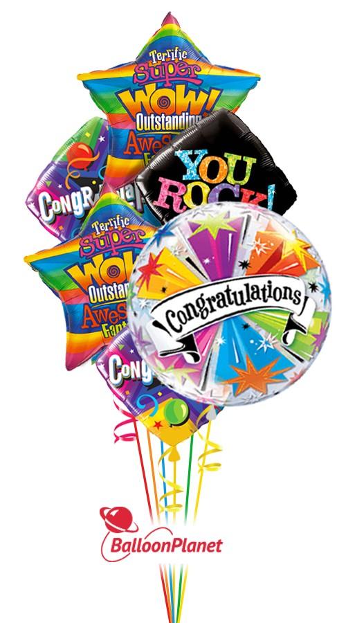 congratulations balloon bouquet  6 balloons