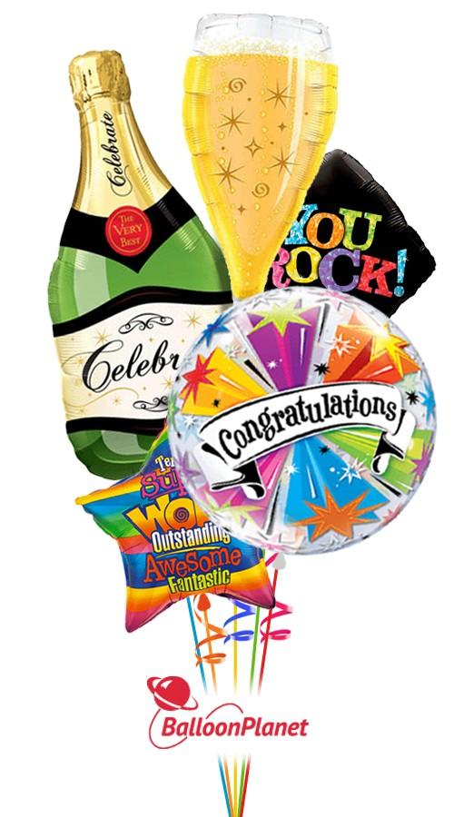 Congratulations Balloon Bouquet 5 Balloons