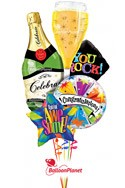 Congratulations Balloon Bouquet (6 Balloons) delivered in Redondo Beach