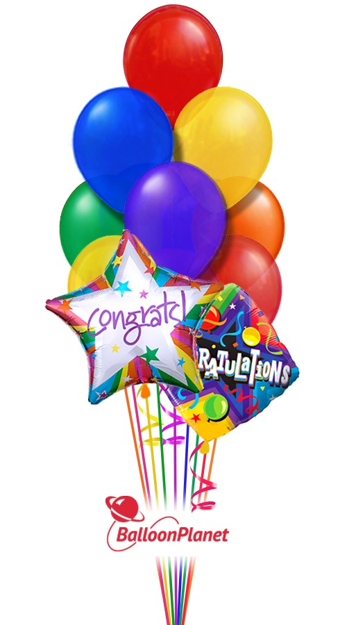 CongratulationsBalloon Bouquet (12 Balloons)