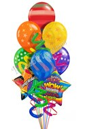 Congratulations Balloon Bouquet (9 Balloons) delivered in Newark