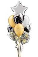 Congratulations Balloon Bouquet (9 Balloons) delivered in Corpus Christi