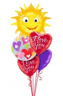 You Are My Sunshine I Love You Balloon Bouquet (5 Balloons) delivered in Fort Worth