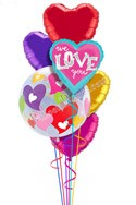 Colorful Hearts II We Love You Balloon Bouquet (7 Balloons) delivered in Nashville