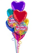 Colorful Hearts Anniversary Balloon Bouquet (8 Balloons) delivered in Carson