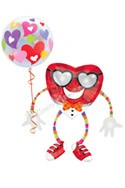 HeartthrobAirwalker Balloon Bouquet (2 Balloons) delivered in Redondo Beach