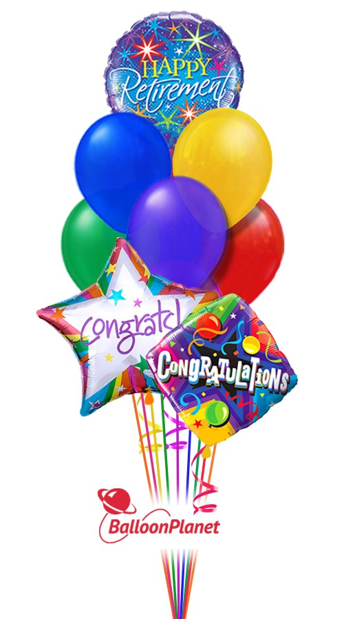 Retirement balloon bouquet balloons delivery