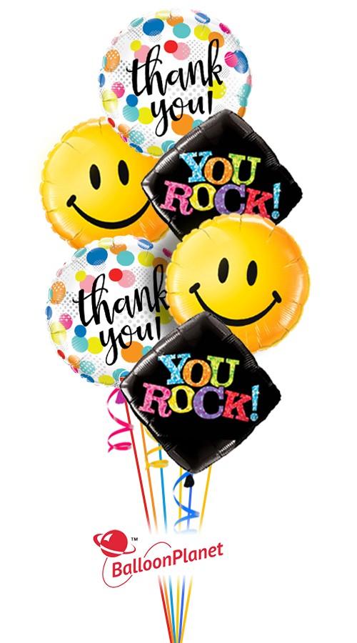 Big Smiles Thank You Balloon Bouquet 6 Balloons