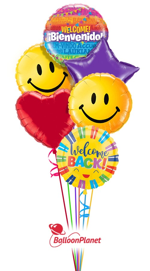 Heartfelt Welcome Back Balloon Bouquet 8 Balloons