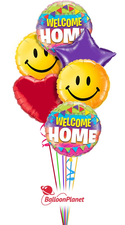 Big Smiles Welcome Home Balloon Bouquet (6 Balloons)
