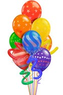 Jumbo Twisty Airspray I Just For Fun Balloon Bouquet (10 Balloons) delivered in Chandler