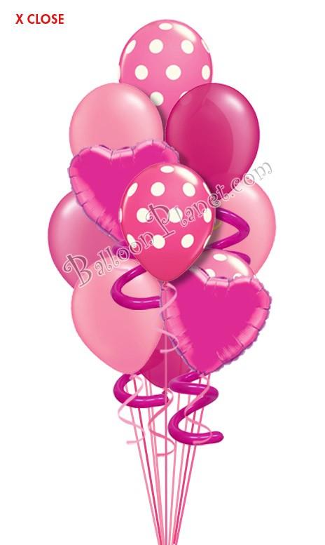 jumbo twisty pink ii just for fun balloon bouquet  12