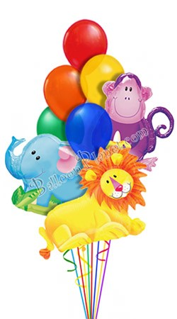 Jungle Pales III  Just For Fun Balloon Bouquet (10 Balloons)