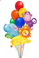 Jungle Pales III Just For Fun Balloon Bouquet (10 Balloons) delivered in Encino