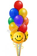 Rainbow Smiles Just For Fun Balloon Bouquet (13 Balloons) delivered in South Boston
