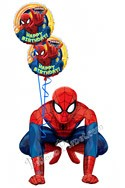 Spiderman Birthday II Airwalker Balloon Bouquet (3 Balloons) delivered in Boynton Beach