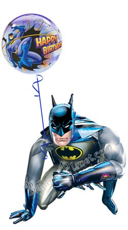 Batman Birthday II Airwalker Balloon Bouquet (2 Balloons)