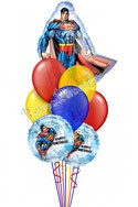 Superman Birthday Super Shape Balloon Bouquet (9 Balloons) delivered in Anchorage