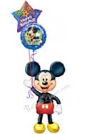 Mickey Birthday V Airwalker Balloon Bouquet (3 Balloons) delivered in Cleveland