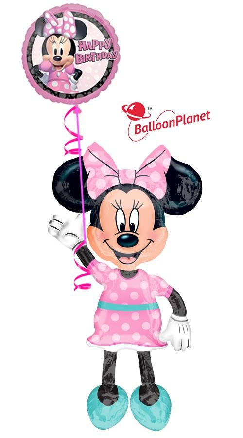 Minnie Birthday III Airwalker Balloon Bouquet