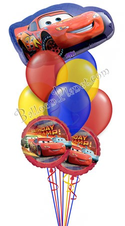 Disney Cars Birthday III Super Shape Balloon Bouquet 9 Balloons
