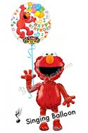 Elmo Birthday II Singing Airwalker Balloon Bouquet (2 Balloons) delivered in Fort Lauderdale