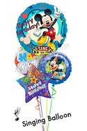 Mickey Birthday II Singing Balloon Bouquet (4 Balloons) delivered in San Jose