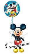 Mickey Birthday VI Airwalker Singing Balloon Bouquet (2 Balloons) delivered in North Las Vegas