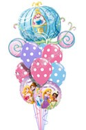 Princess Birthday IV Cinderella Carriage Balloon Bouquet (9 Balloons) delivered in St Paul