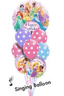 Princess Birthday I Singing Balloon Bouquet (9 Balloons) delivered in Nashville