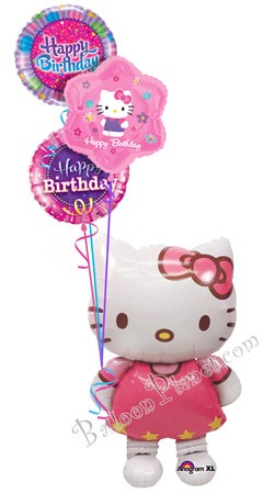 Hello Kitty Birthday II Airwalker Balloon Bouquet