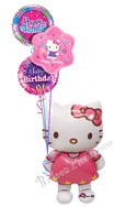 Hello Kitty Birthday II Airwalker Balloon Bouquet (4 Balloons) delivered in Los Angeles