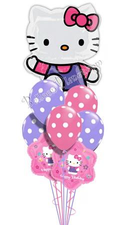 Hello Kitty Birthday I Super Shape Balloon Bouquet