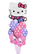 Hello Kitty Birthday I Super Shape Balloon Bouquet (9 Balloons) delivered in Miami
